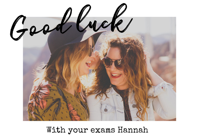 Create a personalised photo card Good Luck