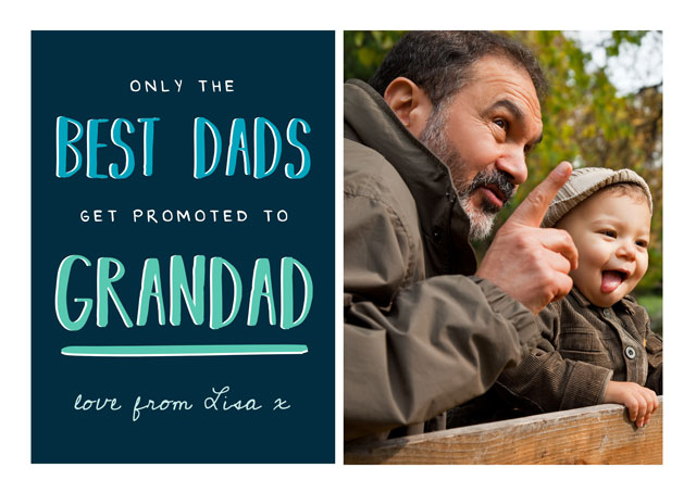 Create a Real Photo Photo Father's Day Card For Grandad Card