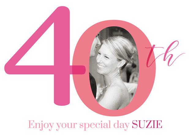 Create a personalised photo card Photo Birthday Card 40 Milestone