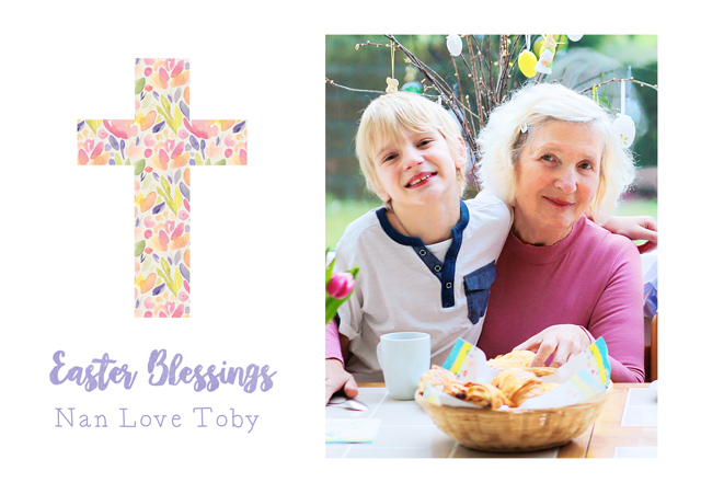 Create a Real Photo Photo Easter Card Cross Card