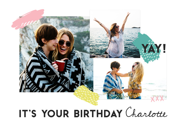 Create a Real Photo Yay It's Your Birthday  Card