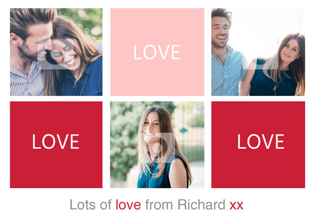 Create a Real Photo Collage Grid Love Card