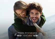 Create a Real Photo Anniversary Card