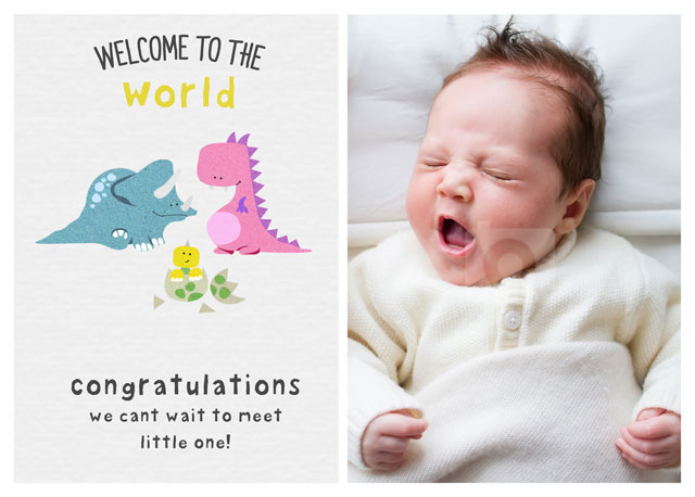 Create a Real Photo Welcome To The World Card