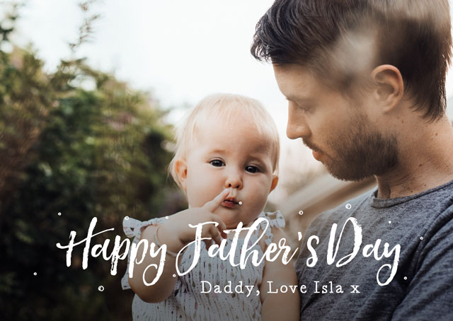 Create a Real Photo Photo Father's Day Card Landscape Script Card