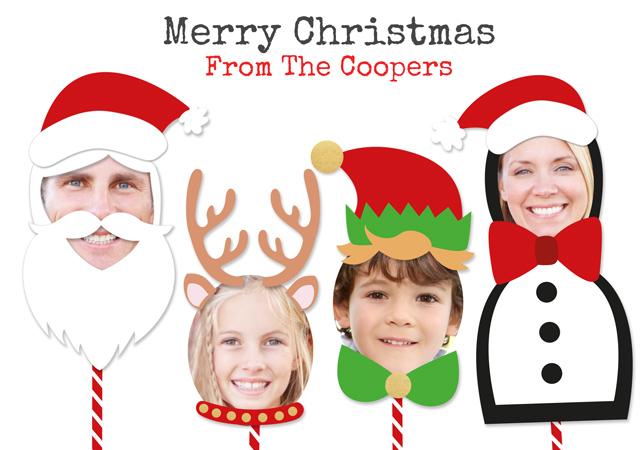 Create a Real Photo Photo Christmas Card Christmas Characters Card