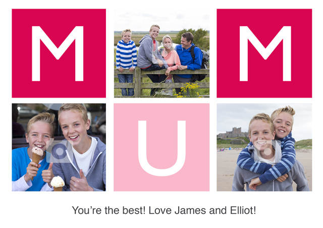 Create a Real Photo Photo Mother's Day Card Mum Card