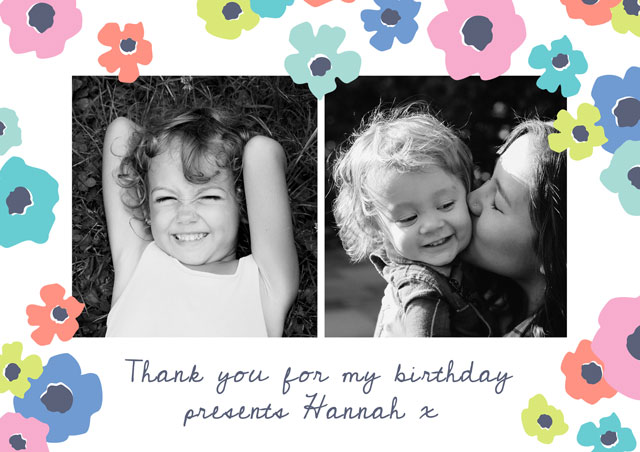 Create a Real Photo Photo Thank You Card Collage Cosmos Card