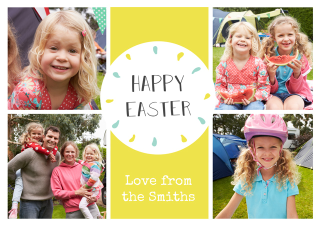 Create a Real Photo Photo Easter Card 4 Photo Collage Card