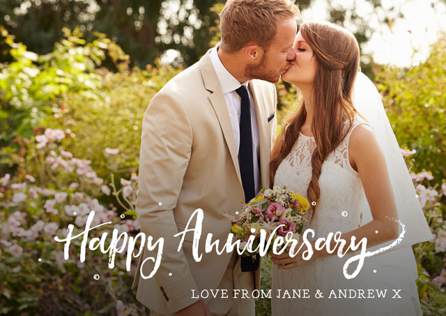 Create a Real Photo Happy Anniversary Photo Overlay  Card