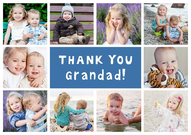 Photo Thank You Card Collage 10 Photos