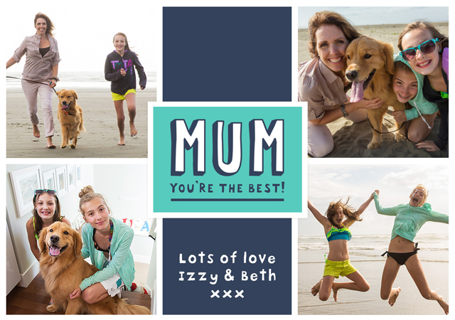 Create a Real Photo Photo Mother's Day Card Best Mum Card