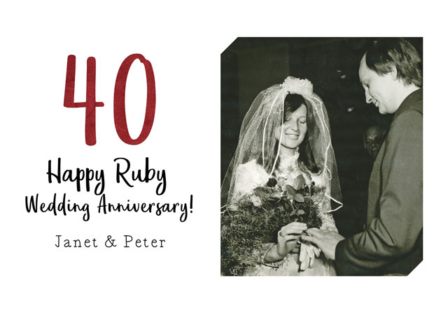 Create a Real Photo Anniversary Ruby Card