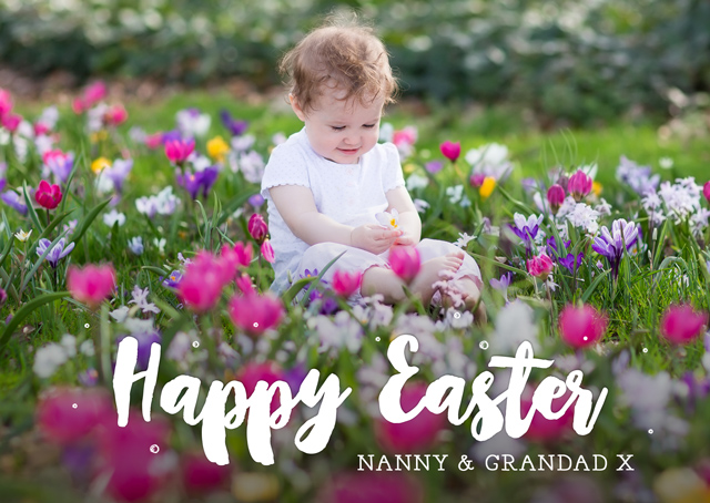 Create a Real Photo Photo Easter Card Overlayed Text Landscape Card