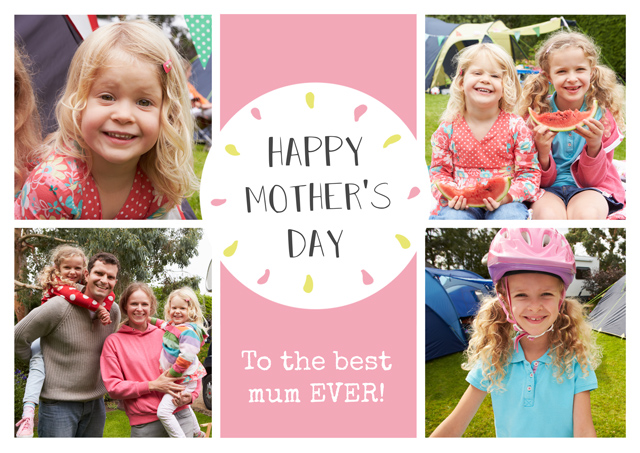 Create a Real Photo Photo Mother's Day Card Circle Collage Card