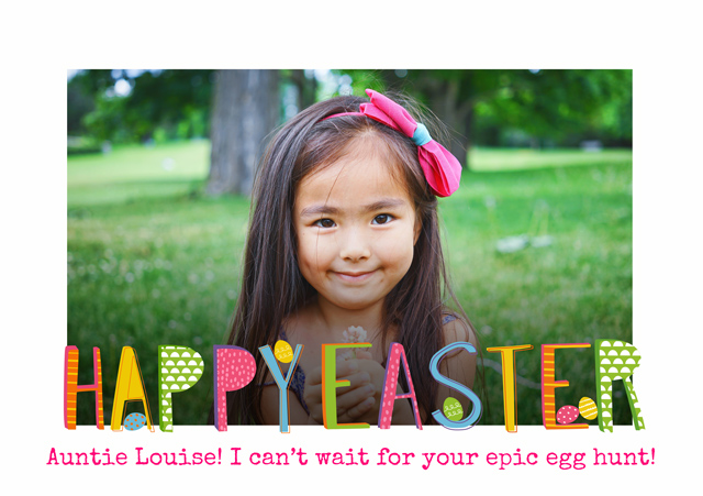 Create a Real Photo Photo Easter Card Patterned Text Card