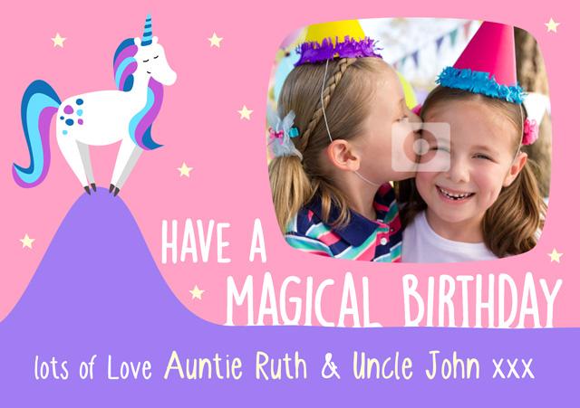 Create a Real Photo Unicorn Card