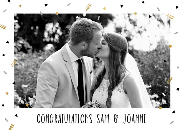 Create a Real Photo Confetti Congratulations  Card