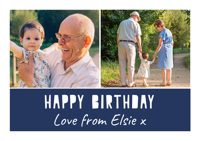 Create a personalised photo card Photo Card Birthday Collage 2 Photos