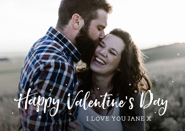 Create a Real Photo Photo Card Valentines Script Card
