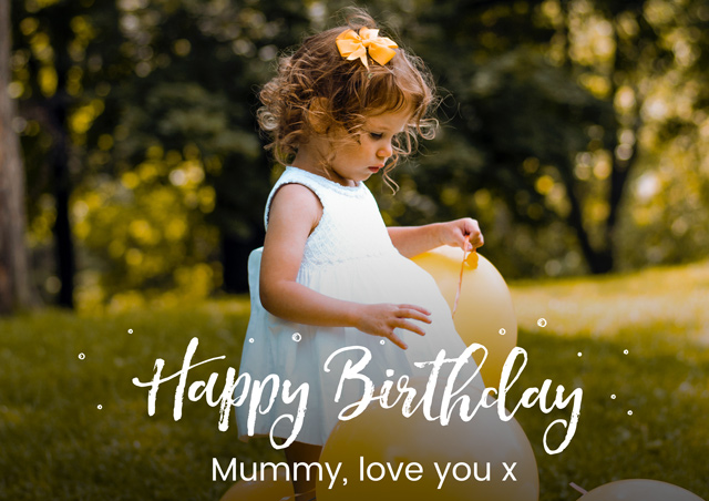 Create a Real Photo Photo Card Birthday Script Card
