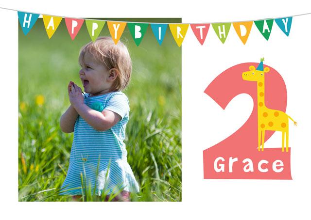 Create a Real Photo Birthday 2 Card