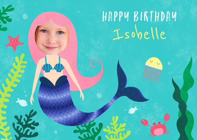 Create a Real Photo Mermaid Card