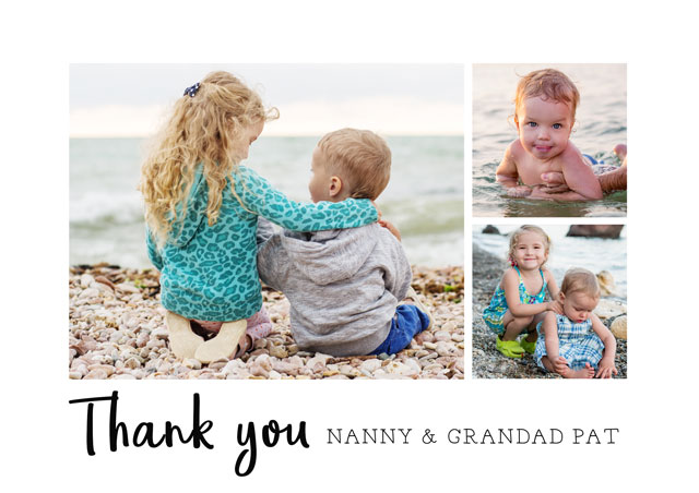 Photo Thank You Card Collage Text
