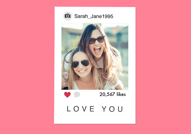 Create a personalised photo card Instagram