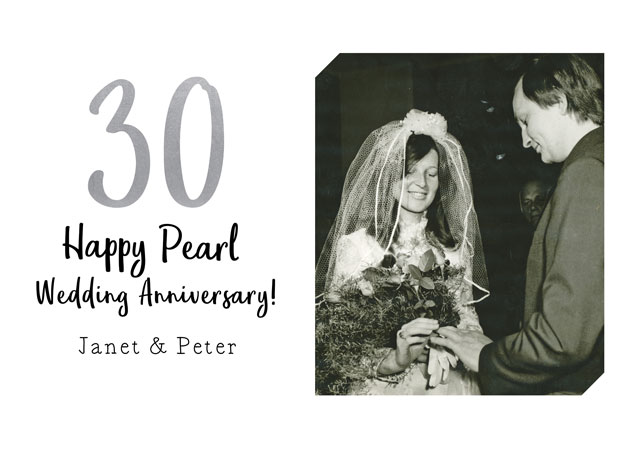 Create a Real Photo Anniversary Pearl Card