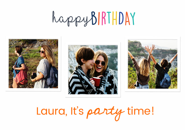 Create a Real Photo Happy Birthday Collage Card