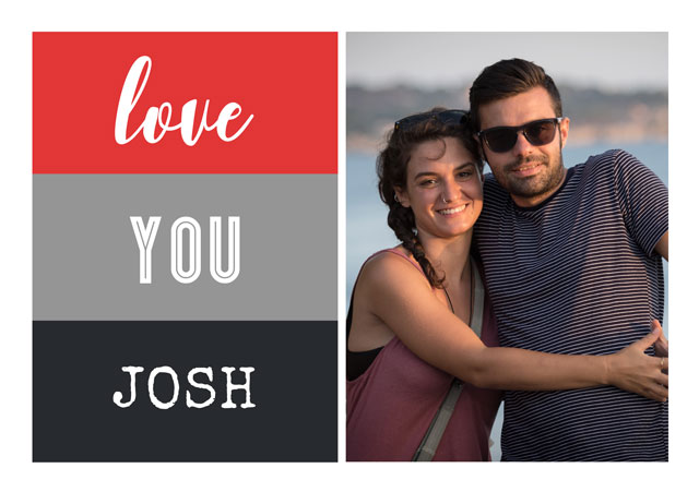 Create a Real Photo Side Pannel Colour Valentine's Card