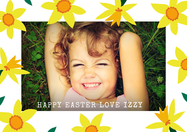 Create a Real Photo Photo Easter Card Spring Card