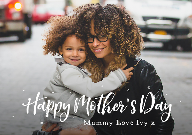 Create a Real Photo Photo Mother's Day Card Script Overlay Card