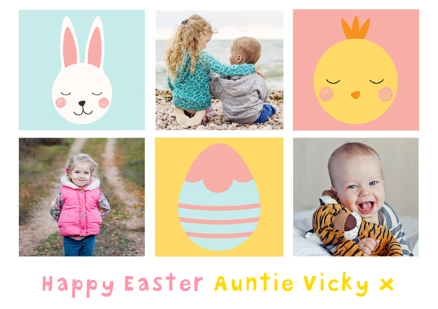 Create a Real Photo Photo Easter Card Collage Illustrations Card