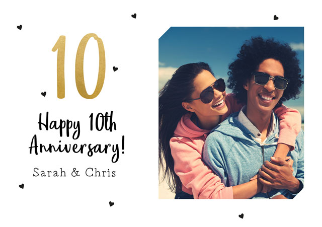 Create a Real Photo 10 Anniversary Card