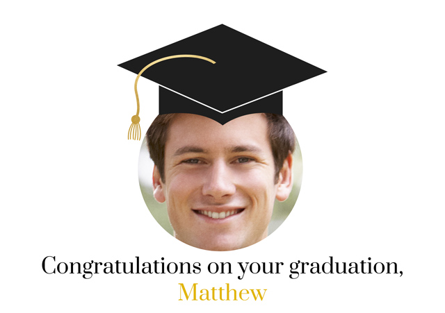 Create a Real Photo Graduation Face In Hole Card