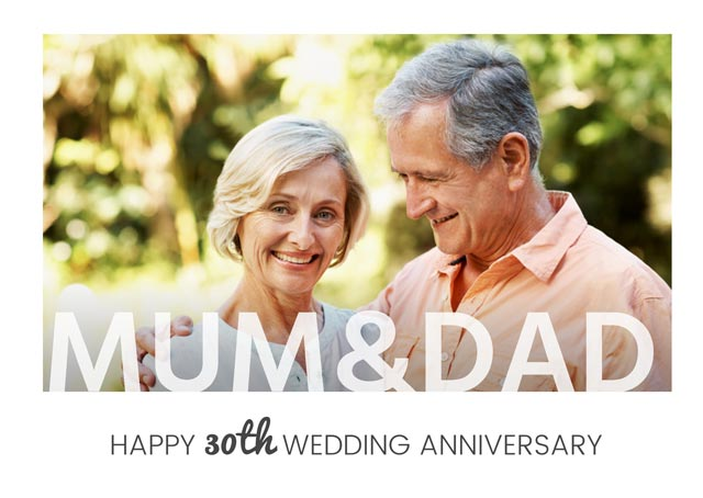 Create a Real Photo Mum & Dad Anniversary  Card