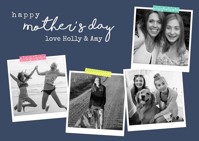 Create a Real Photo Photo Mother's Day Card Retro Photos Card