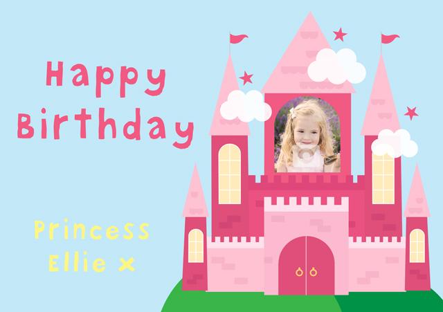 Create a Real Photo Princess Castle Card
