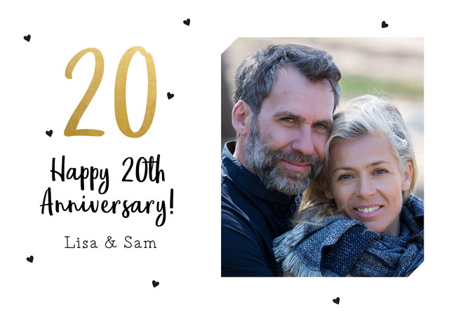 Create a Real Photo 20th Anniversary  Card