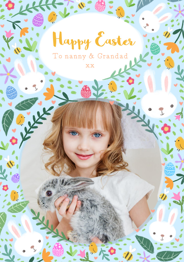 Create a Real Photo Photo Easter Card Easter Drawings Card