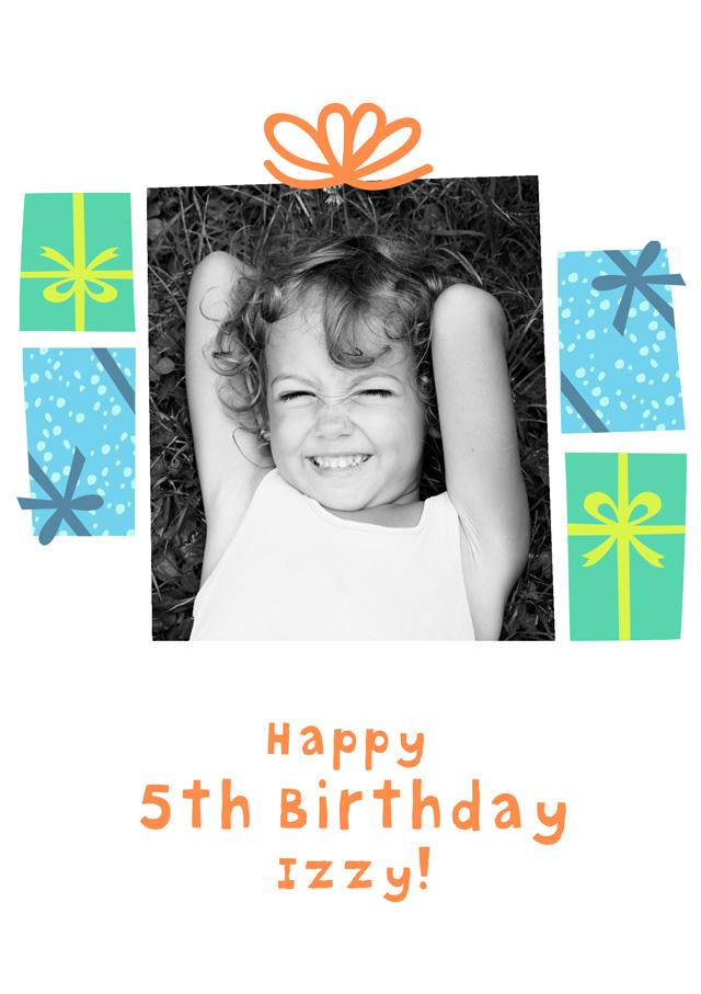 Create a Real Photo Birthday Presents Card