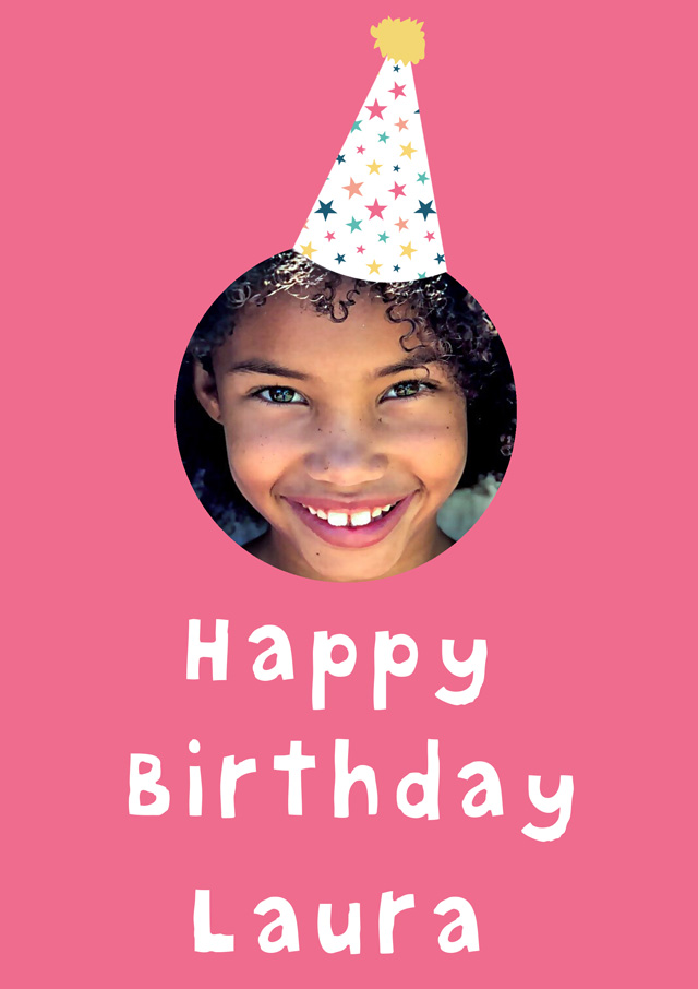 Create a Real Photo Birthday Party Hat Card