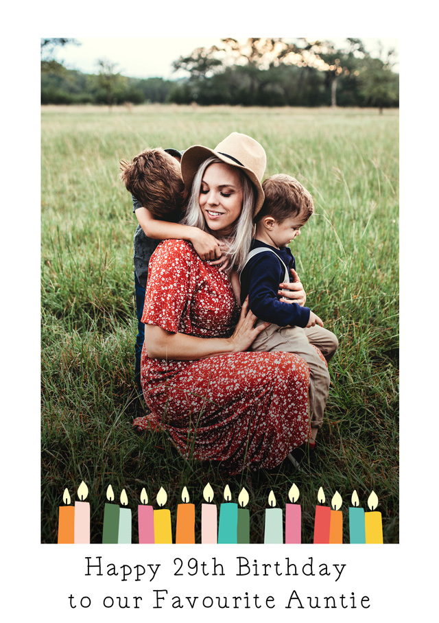 Create a Real Photo Birthday Candles Card