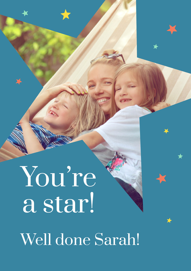 Create a Real Photo You're A Star Card