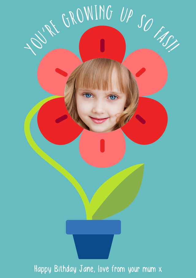 Create a Real Photo Flower Pot Card