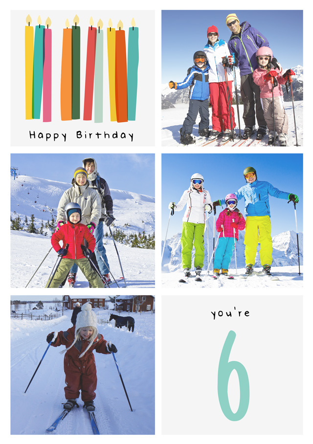 Create a Real Photo Birthday Candle Collage Card