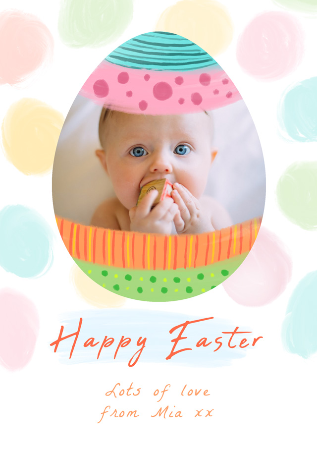 Create a Real Photo Photo Easter Card Easter Egg Card