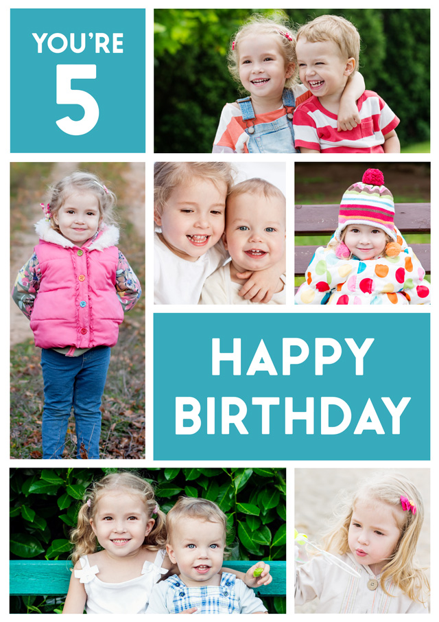 Create a Real Photo Photo Card Birthday Editable Number Portrait Card